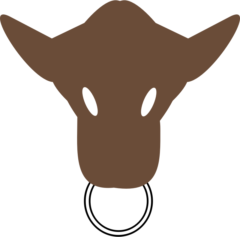 Bull Head Silhouette.