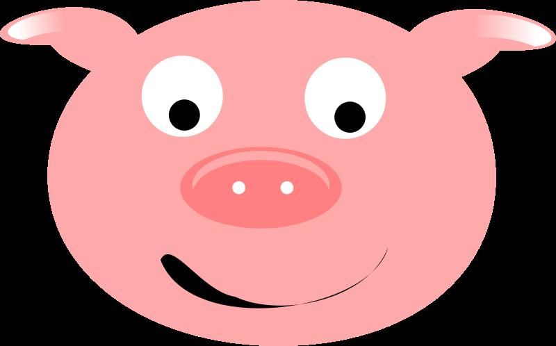 Pig Smiling.