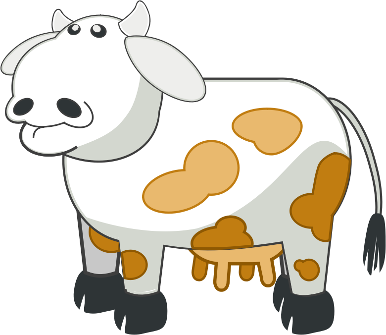 White and Brown Cow.