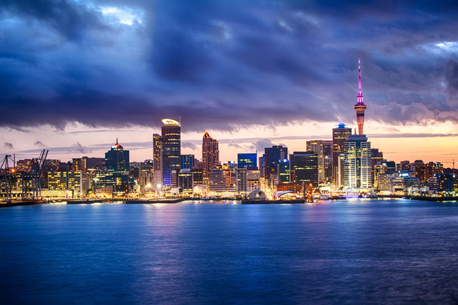 Aukland Skyline at Night.