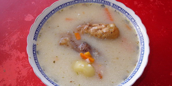 Bolivian Caldo de Cardan Soup.