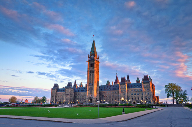 Canadian Parliament Building in Ottawa.