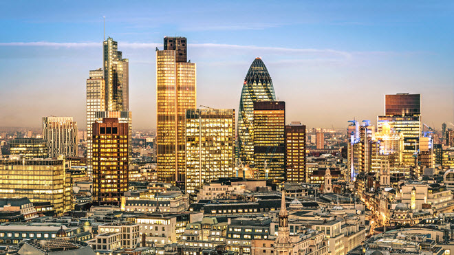 City of London Financial District Skyline.