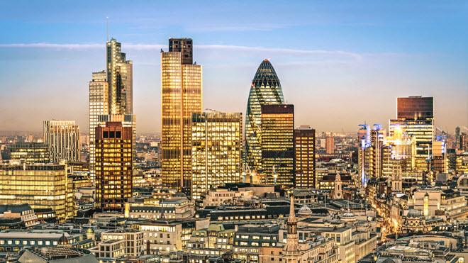 City of London Financial District Skyline.