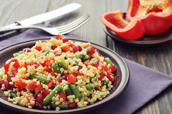 Couscous and Vegetables.