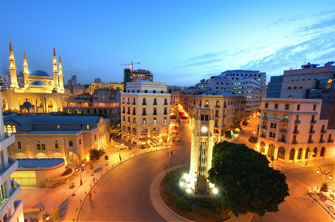 Downtown Beirut.