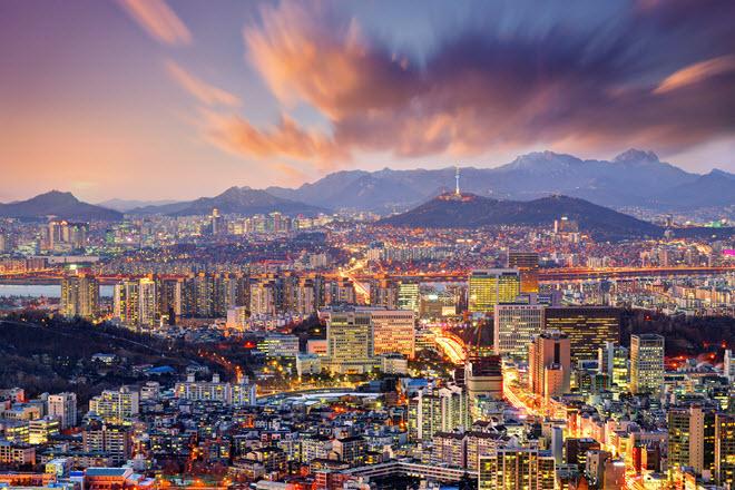 Downtown Seoul.
