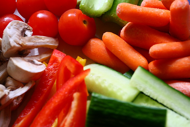 Fresh Chopped Vegetables.