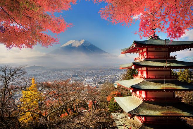 Mt. Fugi in the Fall.