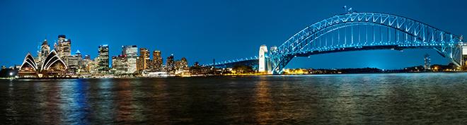 Sydney Skyline at Night.