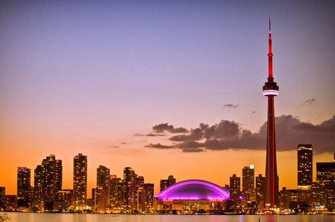 Toronto Skyline at Sunset.