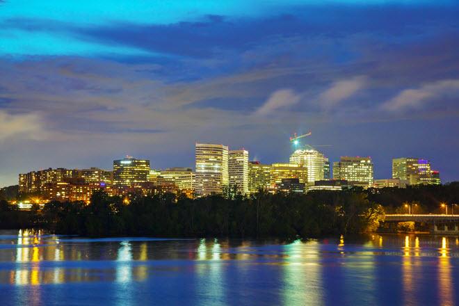 Washington D.C. Skyline at Night.