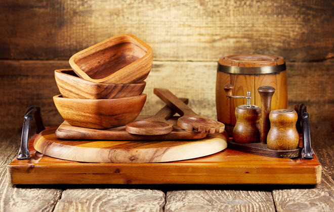 Wooden Kitchen Utensils.