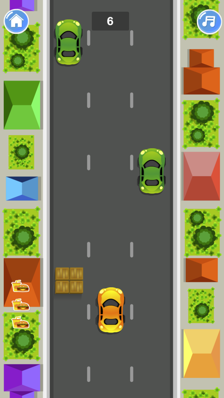Food Delivery Rush Game.