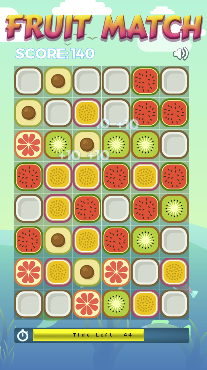 Fruit Match Game.