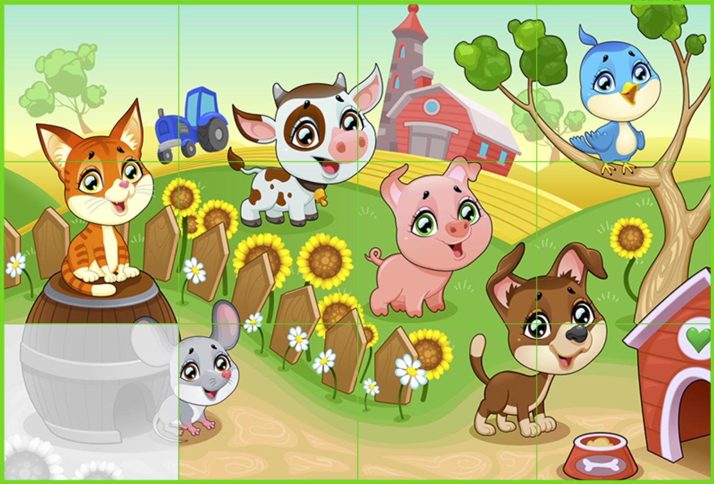 Puzzle Farm Game.