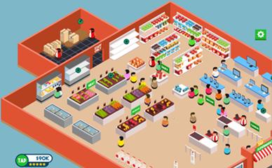Tap Supermarket Game.