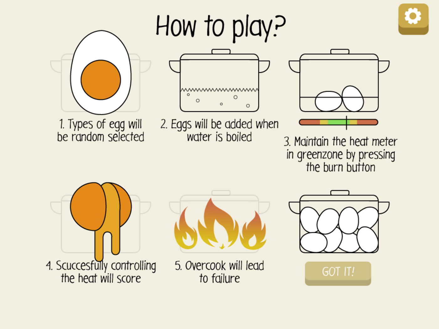 The Boiled Eggs Game.